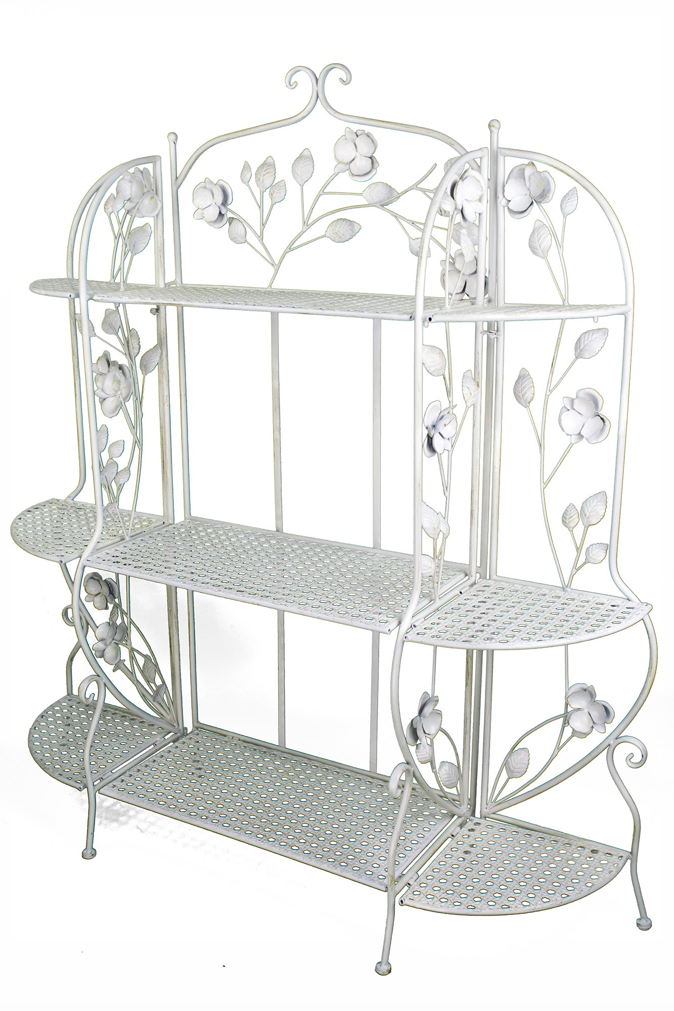 Heather Ann Creations W190944-AWHT Rosella Large Bakers Rack, Antique White by Heather Ann Creations (Image #1)