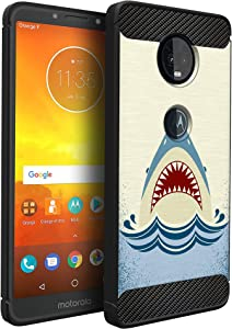 CasesOnDeck Case Compatible with Motorola Moto Z4 / Moto Z4 Play, Slim Precise Fit TPU Case, Scratch Protection and Unique Design (Shark Attack)