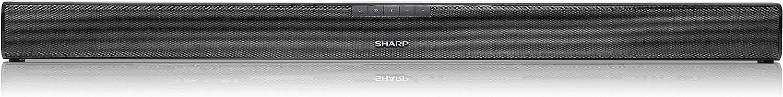 SHARP HT-SB110 2.0 Slim Soundbar mit HDMI ARC//CEC und 90W Gesamtleistung 80 cm,Schwarz /& Basics Hochgeschwindigkeits-HDMI-Kabel 2.0 4K-Videowiedergabe und ARC 0,91 m 3D Ethernet Bluetooth