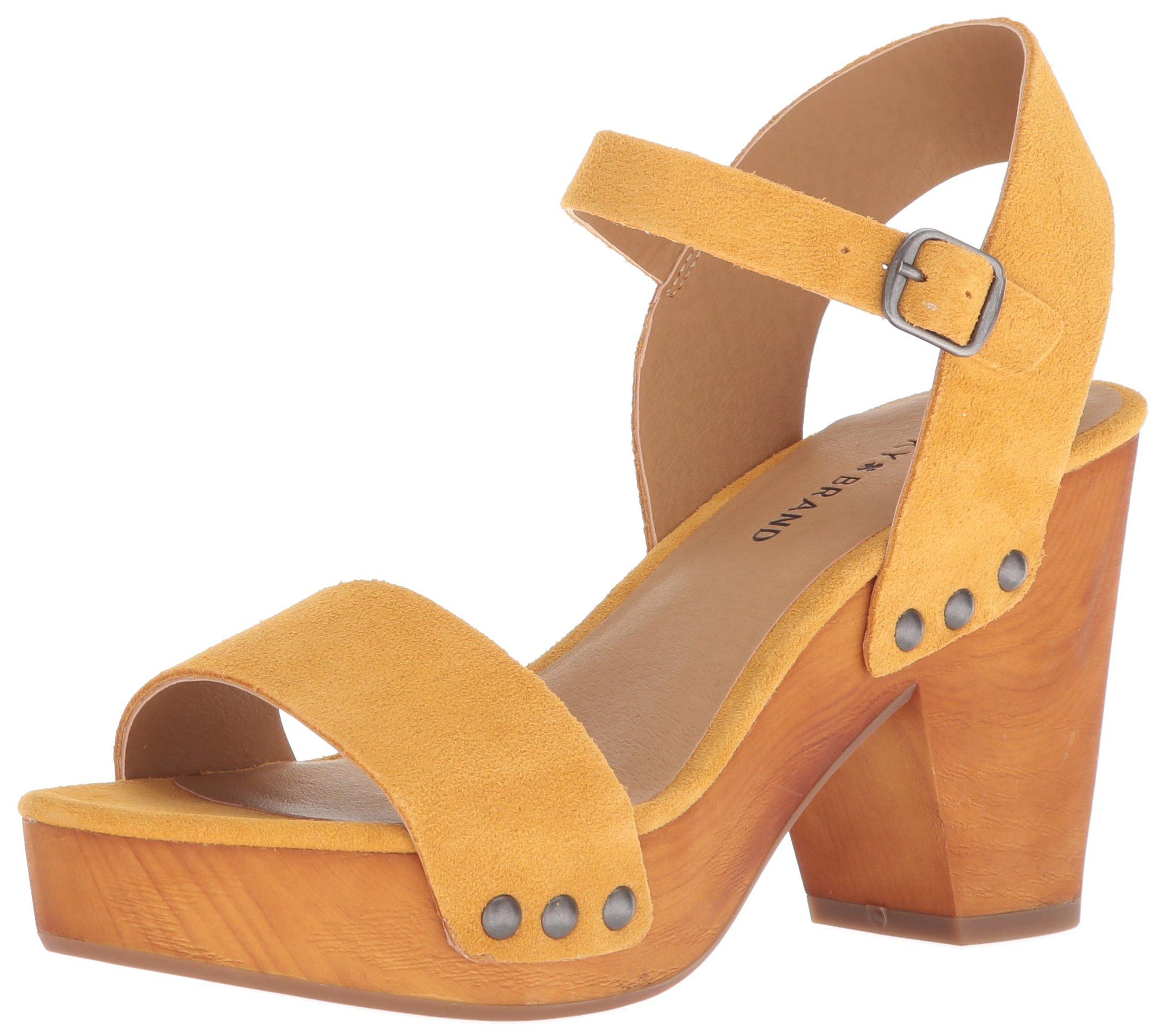 Lucky Women's LK-Trisa Heeled Sandal, Saffron, 8 M US