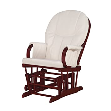 dorel asia wm3846ccom glider rocker chair cherry - Glider Rocker Chair