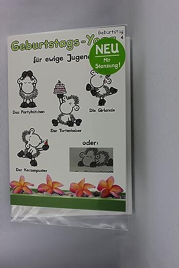 Sheepworld 55443 Stanzkarte Klappkarte Nr 4 Geburtstags Yoga