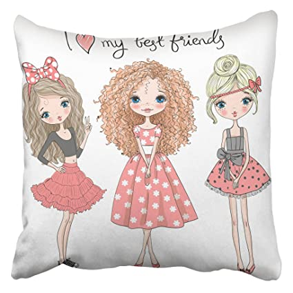 Amazon Com Emvency Decorative Throw Pillow Covers Cases Pink Sister