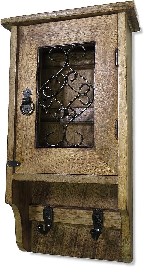Purity - Caja de madera para llaves de pared, nunca vuelvas a perder las llaves: Amazon.es: Hogar