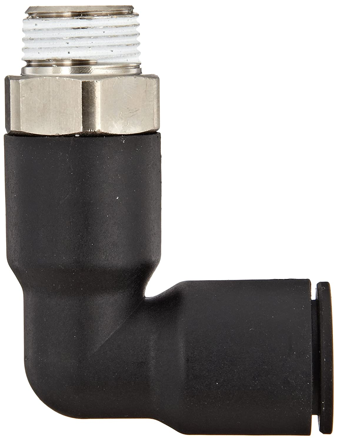 12 mm Tube OD x 3//8 BSPT Male Legris 3129 12 17 Nylon /& Nickel-Plated Brass Push-to-Connect Fitting 90 Degree Extended Elbow