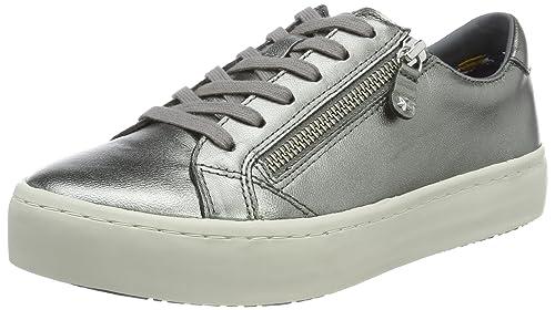 Tommy Hilfiger J1285upiter 2z2, Zapatillas para Mujer, Plateado (Dark Silver), 38 EU