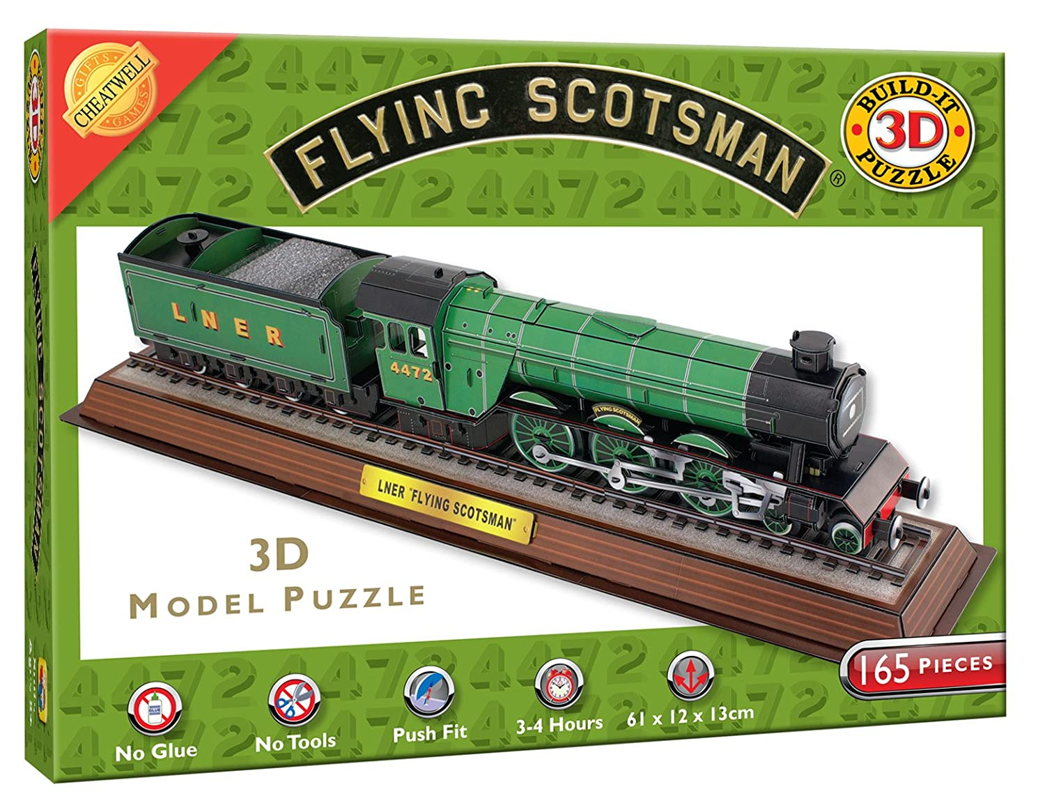 cheatwell games 3d flying scotsman puzzle amazon co uk toys u0026 games