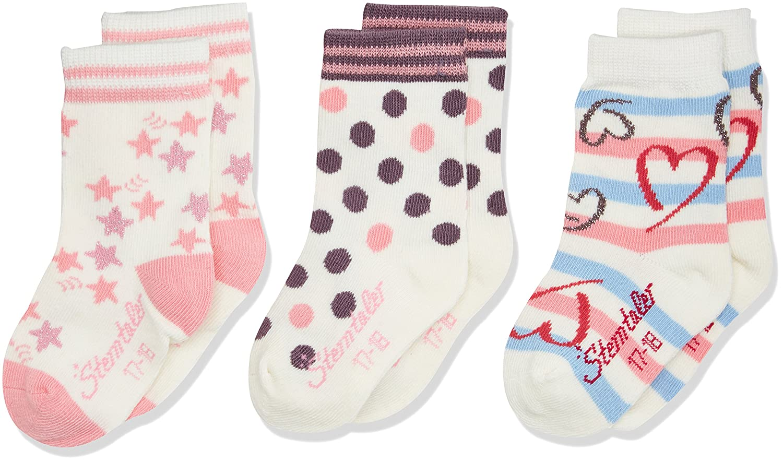 Sterntaler Baby-Mädchen Socken Beige (Ecru 903) 26 8421724