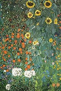 Gustav Klimt Farm Garden with Sunflowers Cool Wall Decor Art Print Poster 24x36
