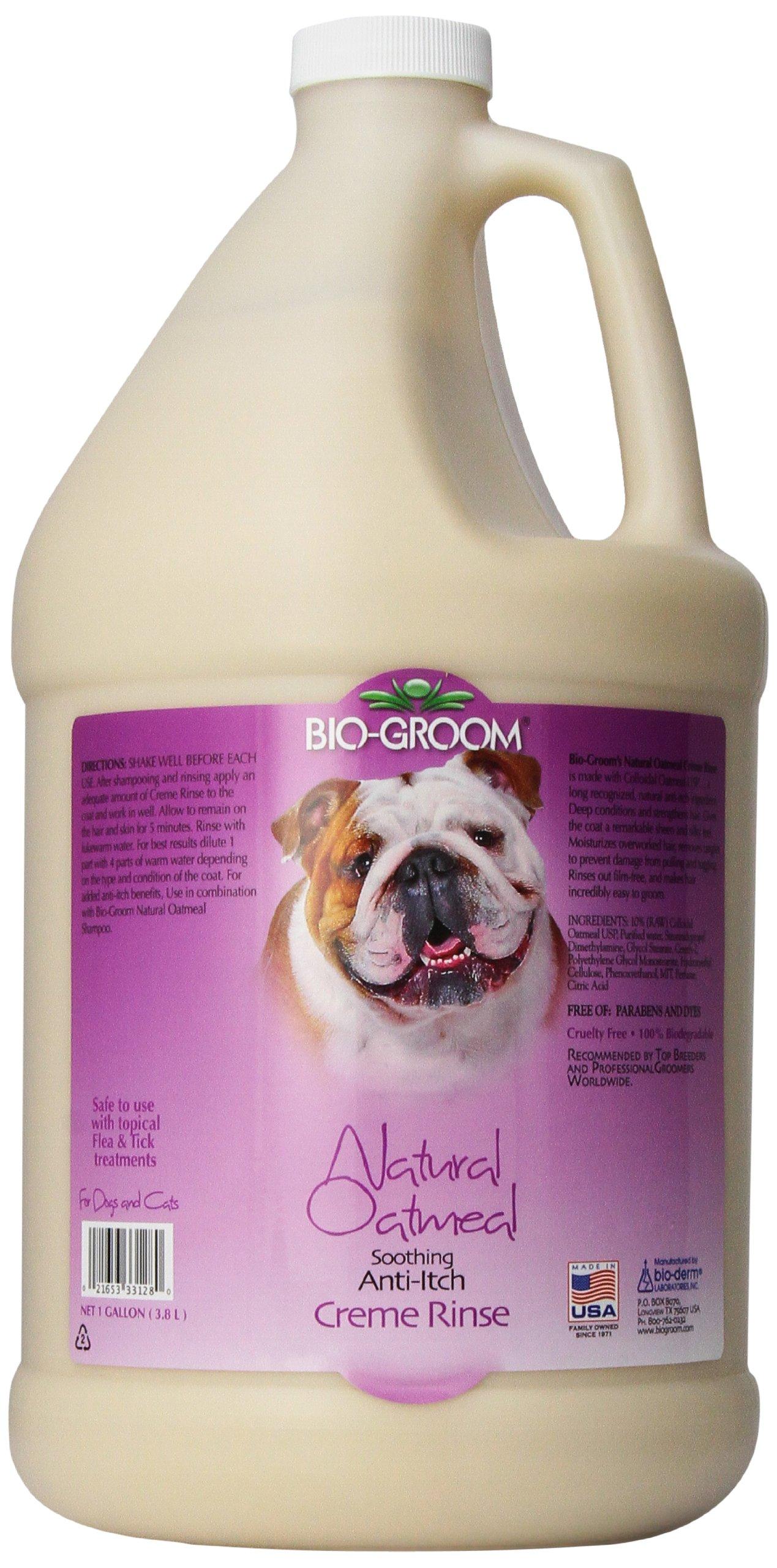 Bio-Groom Natural Oatmeal Anti-Itch Pet Creme Rinse, 1-Gallon by Bio-groom