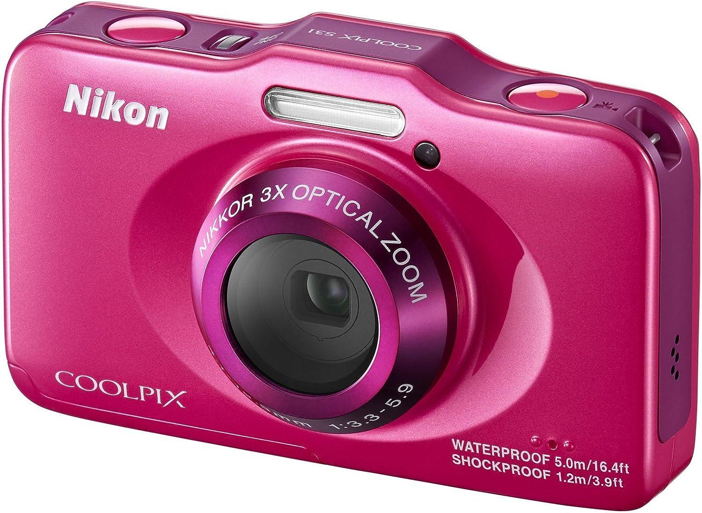 Nikon COOLPIX S31 10.1 MP Waterproof Digital Camera with 720p HD Video OLD MODEL Blue