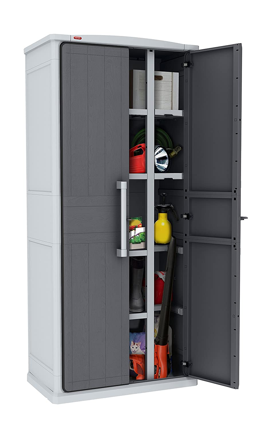 Keter Tall Grey Storage Unit Optima Wonder Cabinet: Amazon.co.uk ...