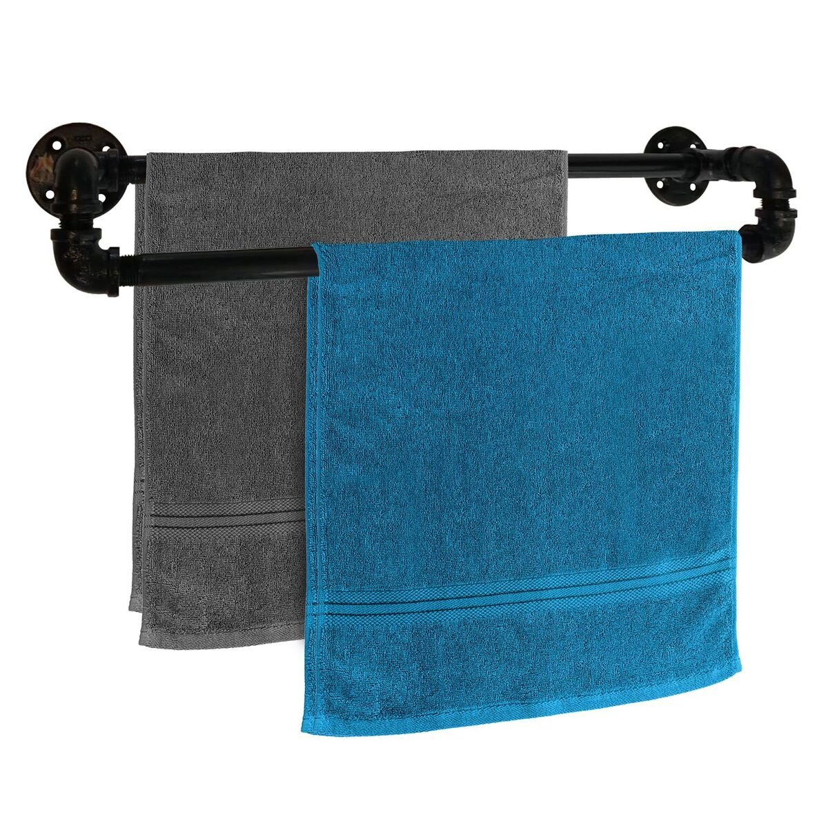 Double Bar Towel Rack - 20'' Heavy Duty Towel Bars - Perfect for Bath, Hand and Beach Towels - Indoor Outdoor Use