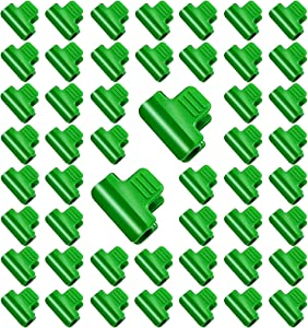 Brave Tour 50PCS Greenhouse Clamps Clips-0.43 Inch Greenhouse Shed Film Clamps Shading Net Rod Clip,Garden Hoop Clips for Row Cover Tunnel,Clips for Garden Stakes Plant Season Extension Support