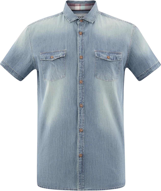 oodji Ultra Uomo Camicia Slim in Jeans