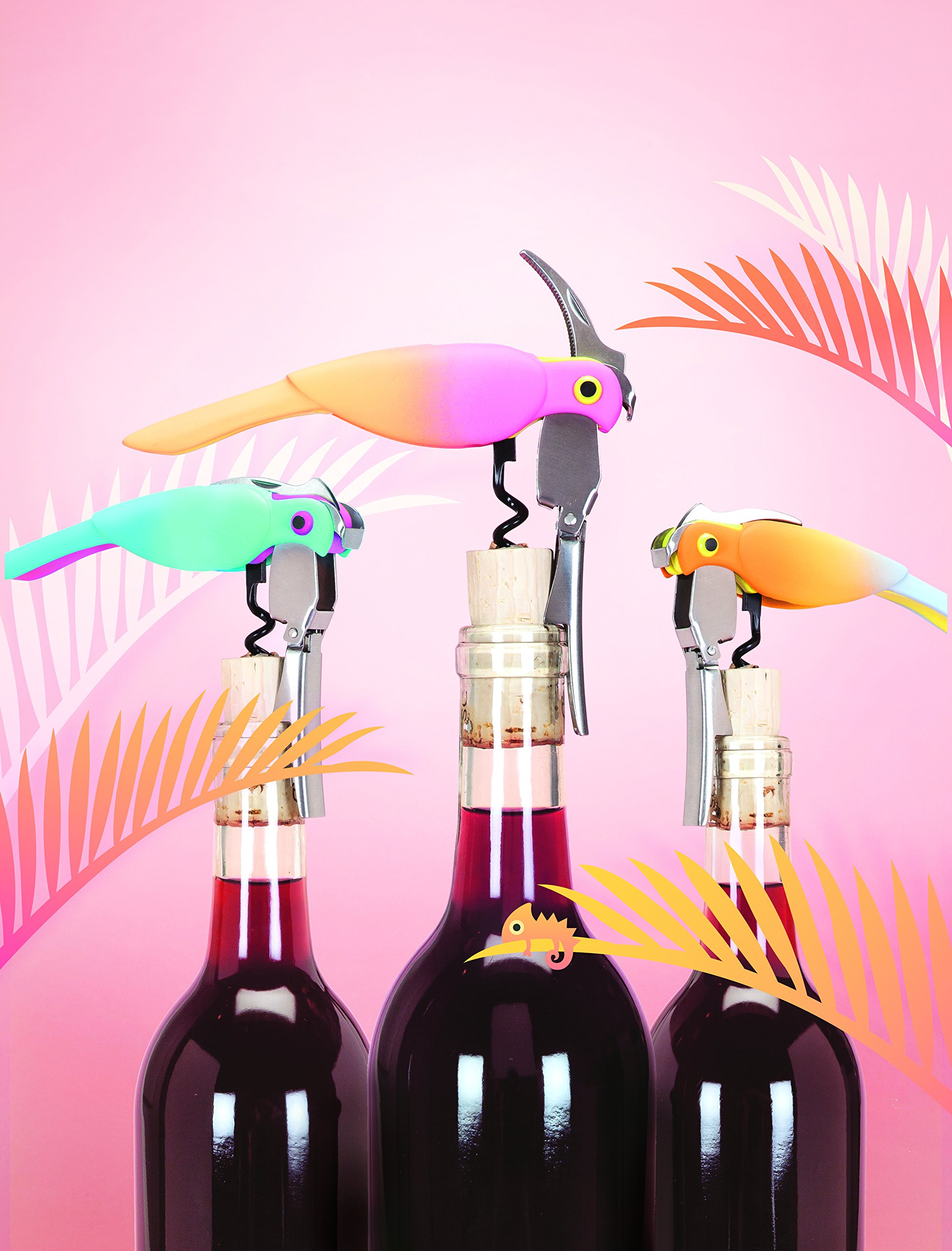 Corkatoo Ombre Double Hinged Corkscrews in Assorted Colors by TrueZoo by TrueZoo (Image #3)