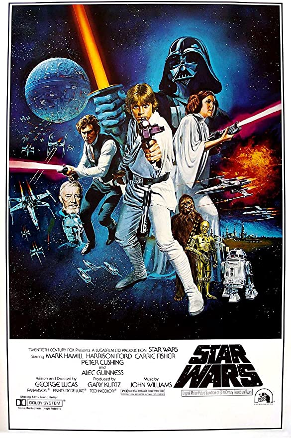 Star Wars Movie Poster 70/'s A New Hope Art Poster Print 24x36 inch Large