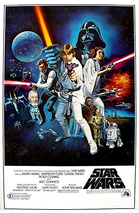 Amazon.com: Star Wars: A New Hope Movie Poster, 24-inch x 36-inch ...