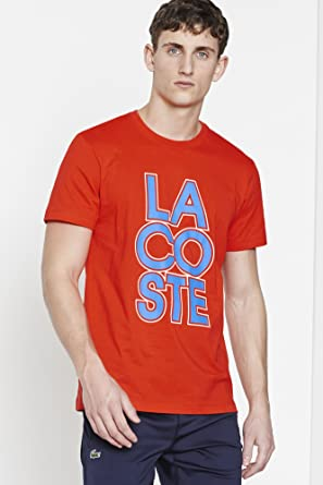 6b0a29f9 Short Sleeve Jersey Lacoste Graphic Tee-shirt Th7688-51 (4, RED):  Amazon.co.uk: Clothing