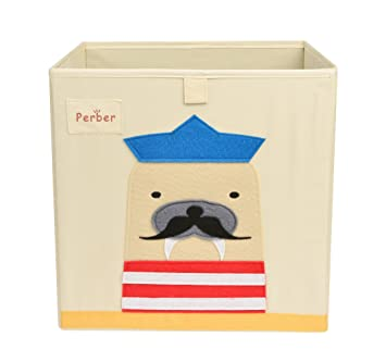 Collapsible Storage Cubes Bin 13u0026quot;x13u0026quot;x13u0026quot;,Decorative  Foldable Oxford Storage Box