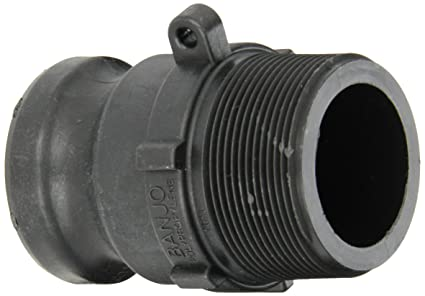 Banjo 150A Polypropylene Cam /& Groove Fitting 1-1//2 Male Adapter x NPT Female