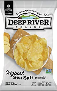 product image for Deep River Snacks Original Sea Salt Kettle Cooked Potato Chips, 5-Ounce (Pack of 12)