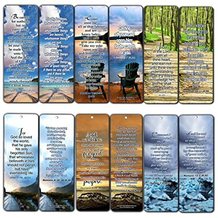 Most Highlighted Bible Verses Bookmarks Cards Bulk Set - KJV Version  (60-Pack)- Religious Christian Inspirational Gifts to Encourage Men Women  Boys