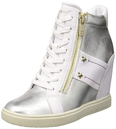 7820389100b23 Tommy Hilfiger Women s Tommy Wedge Sneaker Low-Top  Amazon.co.uk ...