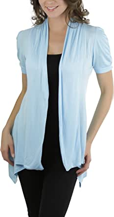 ToBeInStyle Women's Ruched Cap Sleeve Cardigan Sweater
