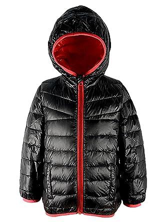 0d3c8bce5f44 Amazon.com  Century Star Kids Windproof Puffer Hoodie Down Jacket ...