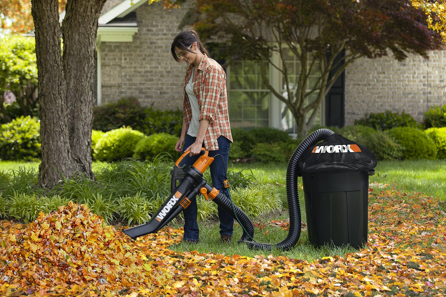 Worx WA4054.2 LeafPro Universal Leaf Collection System with Multi-Fit Adapter and 8' Hose