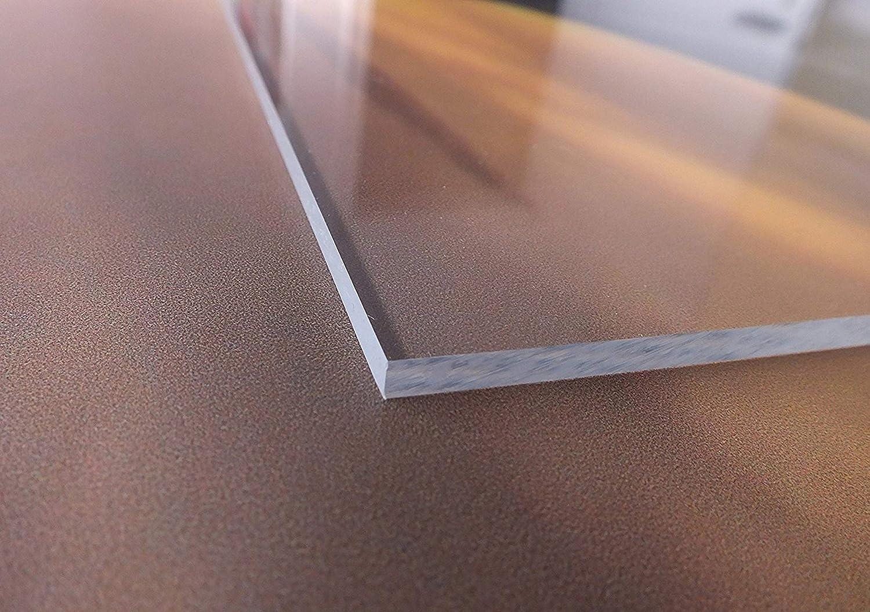 B/&T Metall Acrylglas PMMA XT Platte transparent 300 x 300 mm 4,0 mm stark beidseitig foliert UV-best/ändig Wunschma/ß Zuschnitt bis Gr/ö/ße 30 x 30 cm