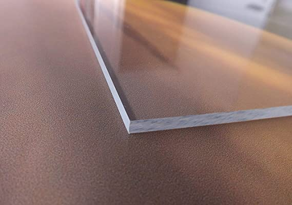 Wunschma/ß Zuschnitt bis Gr/ö/ße 50 x 60 cm UV-best/ändig B/&T Metall Acrylglas PMMA XT Platte transparent beidseitig foliert 500 x 600 mm 3,0 mm stark