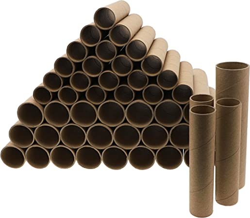 1.8 x 10 Inches Bright Creations Cardboard Craft Roll Paper Tubes - 24-Pack - Brown