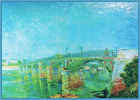 Vincent Van Gogh/'s Seine Asnieres Counted Cross Stitch Chart Pattern