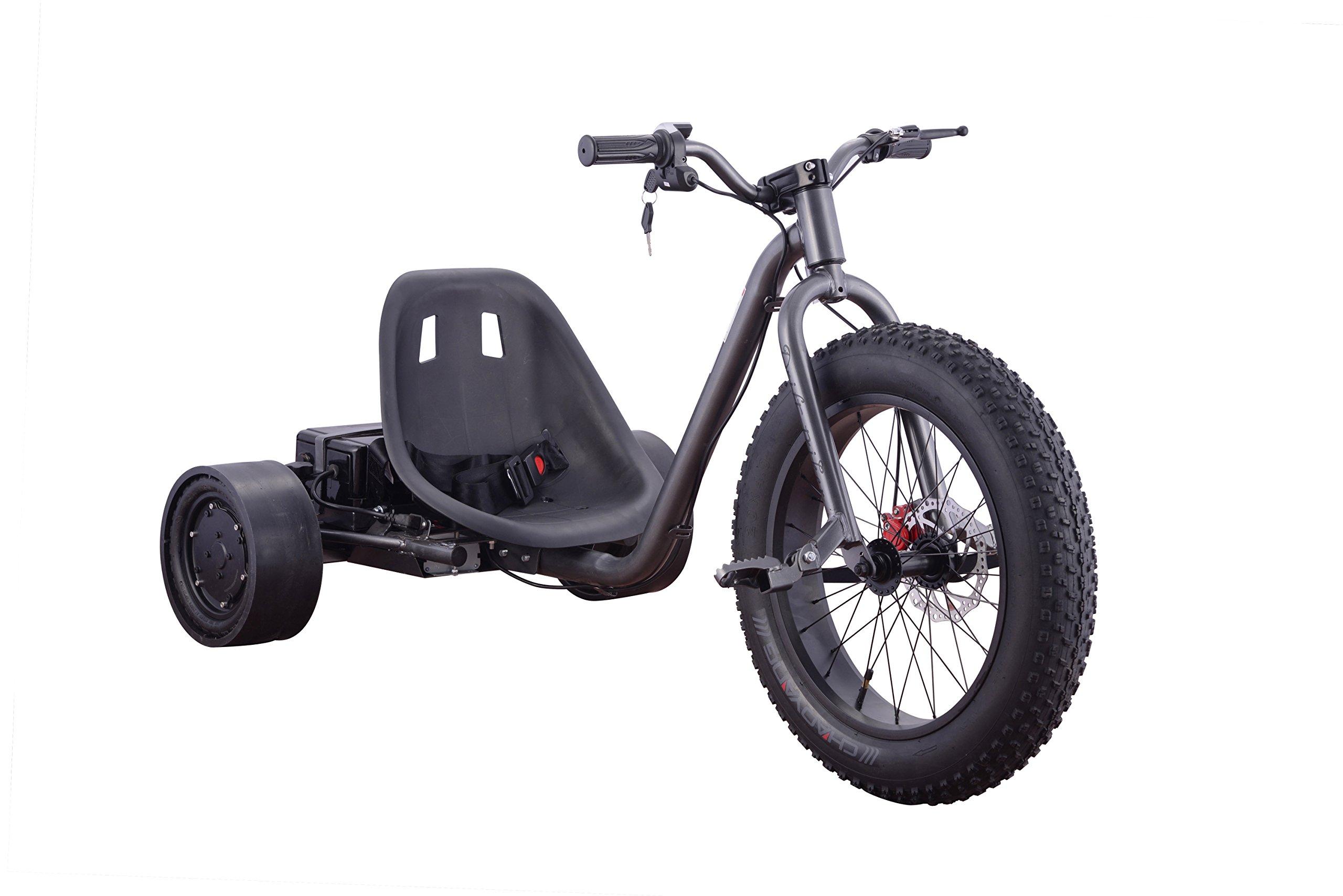 Fast 22MPH Kids Teens 3 Wheel Drift Trike 900 Watt (BLACK) by Go-Bowen