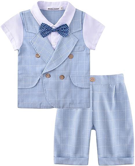 ZOEREA Camisa para Bebé Niño y Pantalones 2 Piezas Trajes para Niños Ropa