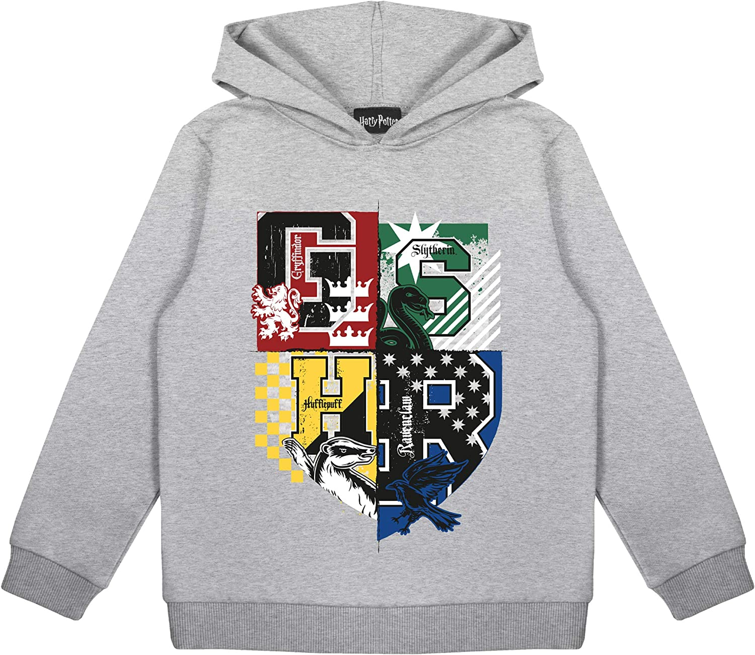 Harry Potter Gifts Kids Birthday Gift Idea Childrens Clothes Harry Potter Hogwarts House Crests Girls Pullover Hoodie Ages 3 13 Official Merchandise Girls Hooded Sweatshirt Clothing Girls Clothing