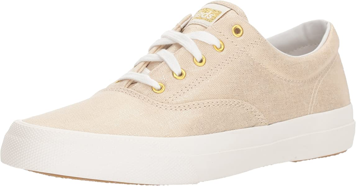b394eded1ed54 Keds Anchor Metallic Linen Women 5 Natural Gold Metallic