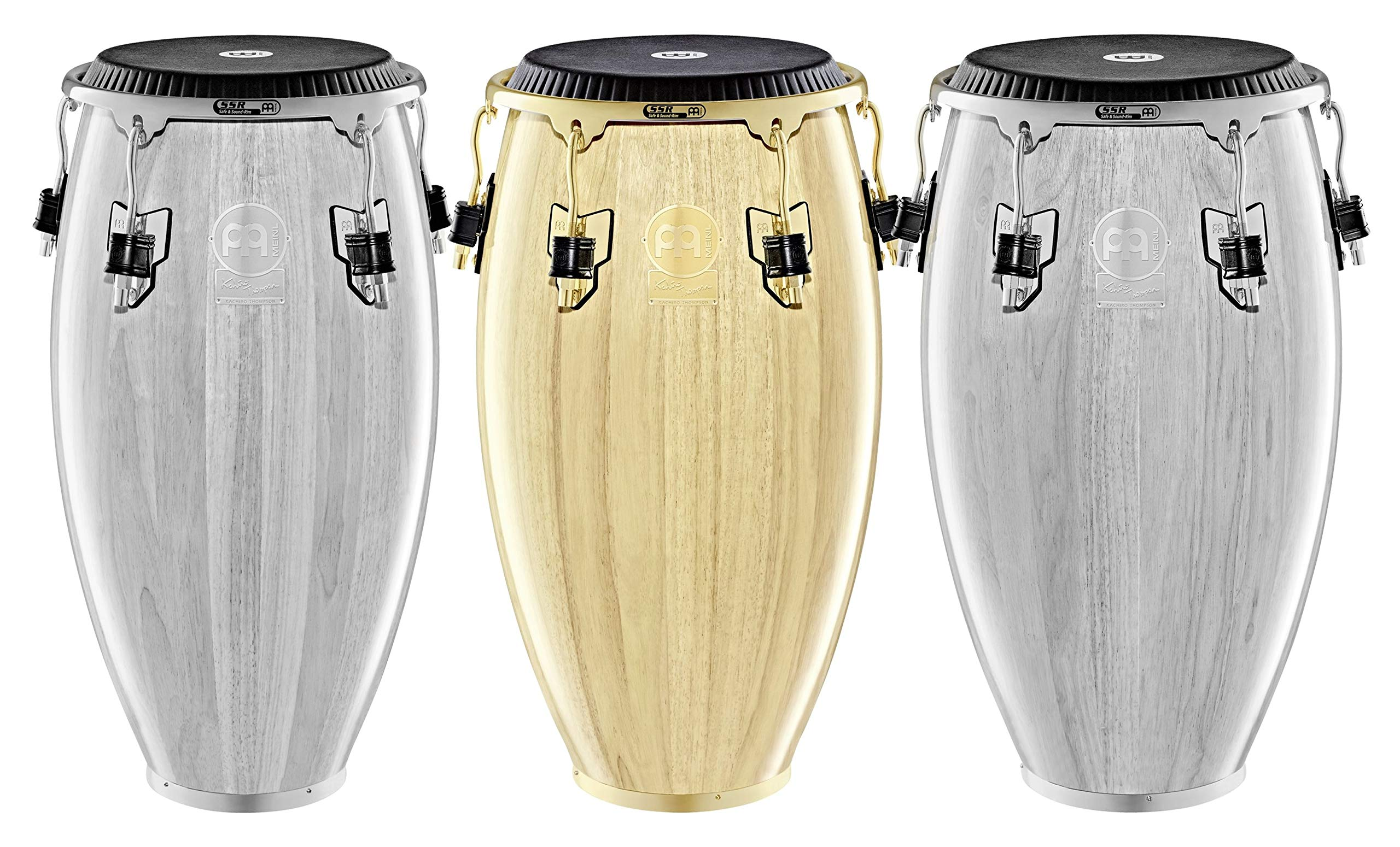 Meinl Percussion Conga with Hardwood Shell, Artist Series Kachiro Thompson-NOT MADE IN CHINA-Natural Finish, 11 3/4'' REMO Black Fiberskyn Head, 2-YEAR WARRANTY (WKTR1134NT) by Meinl Percussion