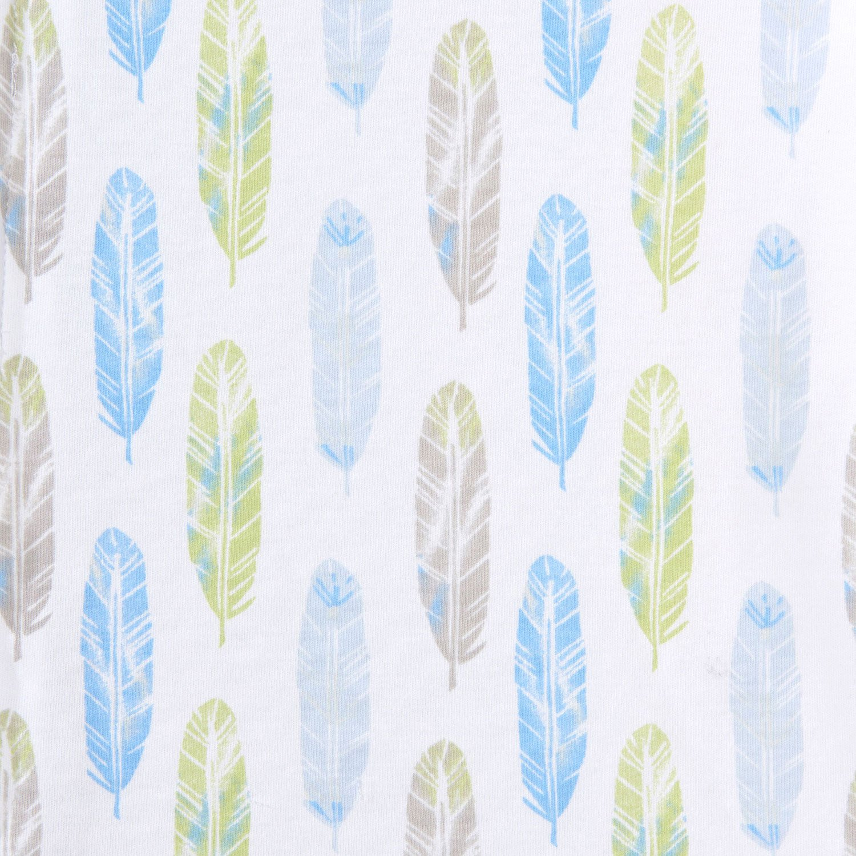 Halo Sleepsack Cotton Wearable Blanket, Feather Aloe Print, Small by Halo (Image #3)