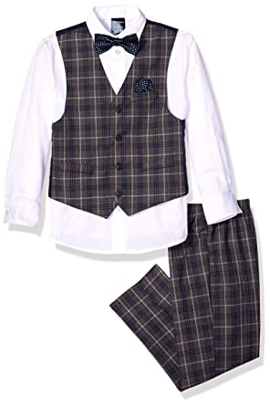 2396cced866 Image Unavailable. Image not available for. Color  Nautica Boys  Baby 4-Piece  Formal Dresswear Vest Set with Bow Tie ...