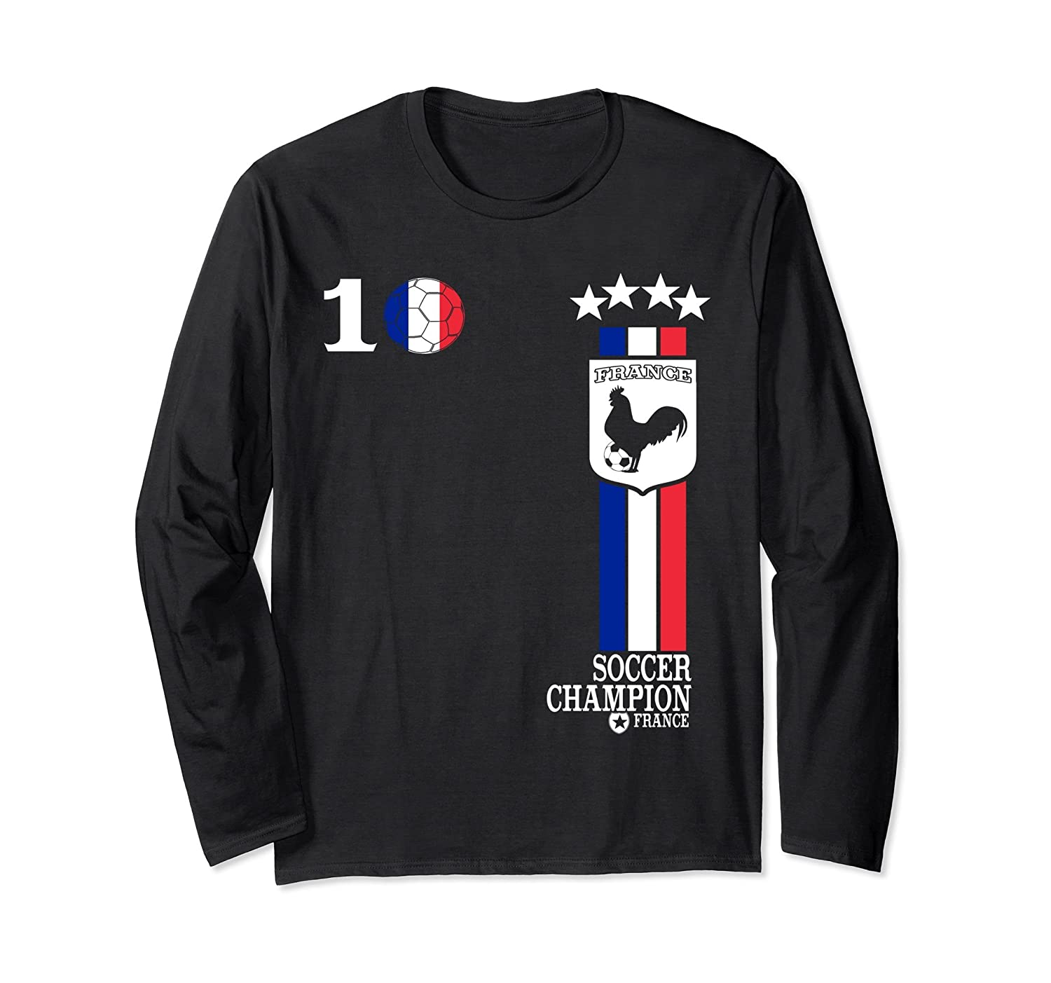 best loved bfe44 26864 France Soccer Jersey Football French Flag 2018 T-Shirt-fa