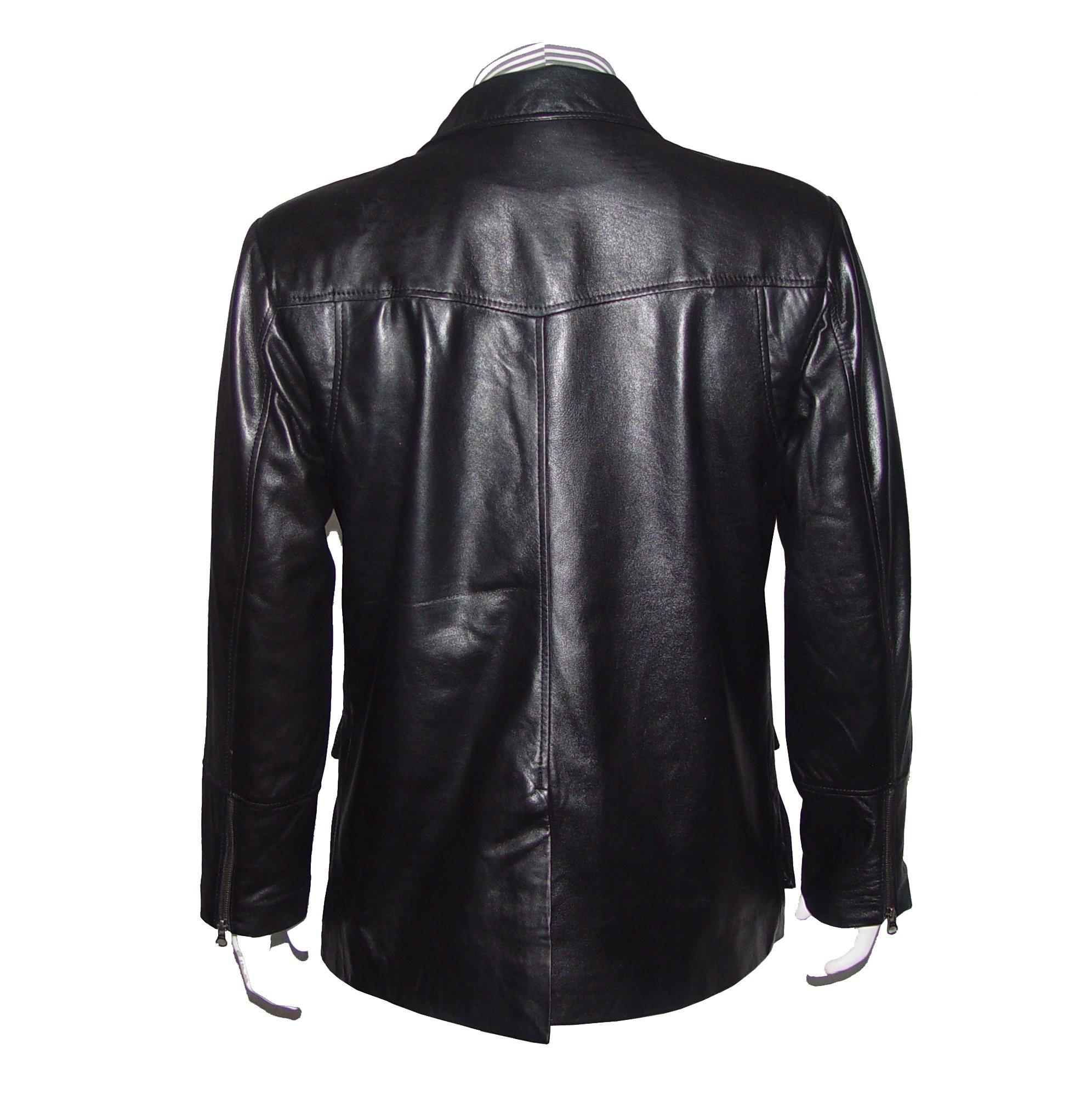Nettailor Mens 1114 FOUR Season Wearable Leather Fancy Casual Blazer by NETTAILOR (Image #3)
