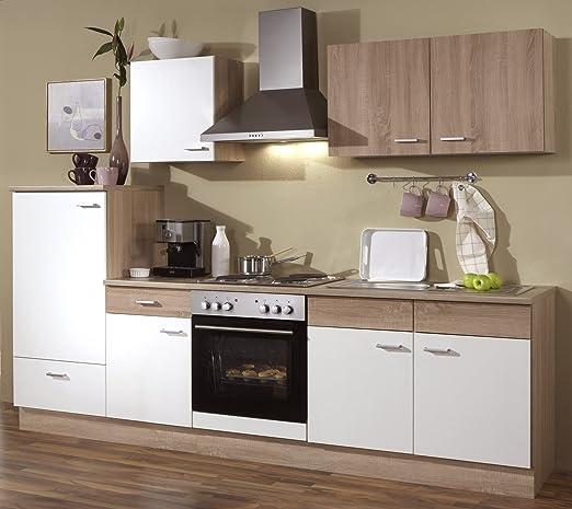 Línea de cocina 270 cm cocina completa con armarios horno fregadero: Amazon.es: Grandes electrodomésticos
