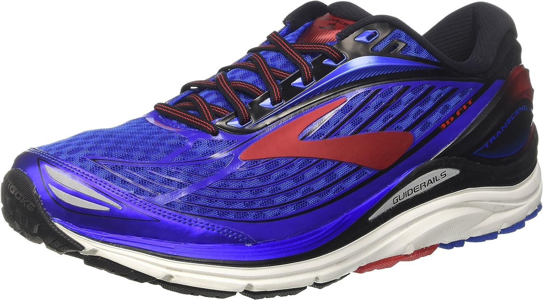 Brooks Transcend 4, Zapatillas de Gimnasia para Hombre, Azul (Electric Blue/Black/High Risk Red), 43 EU: Amazon.es: Zapatos y complementos