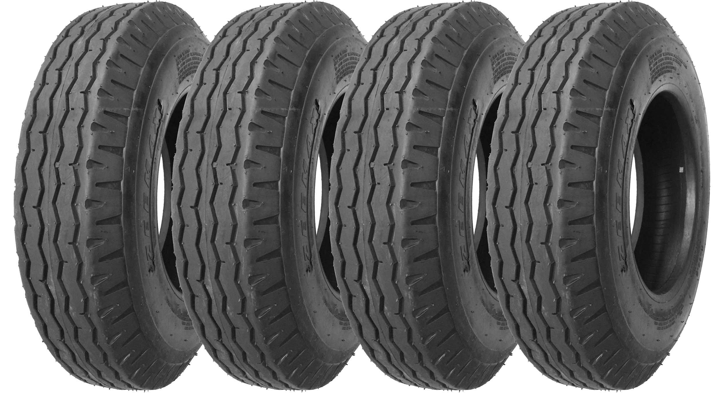 4 New Zeemax Heavy Duty Highway Mobile Home Trailer Tires 8-14.5 14PR Load Range G- 11067
