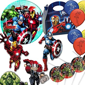 37-tlg Party Set Marvel Mighty Avengers Geburtstag Birthday Hulk Ironman Marvel
