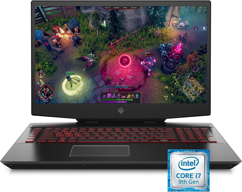 Omen by HP 2019 17-Inch Gaming Laptop, Intel i7-9750H, NVIDIA GeForce GTX 1660 Ti (6 GB), 8 GB RAM, 512 GB Solid-State Drive, VR Ready, Windows 10 Home (17-cb0060nr, Shadow Black)