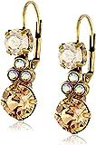 Sorrelli Clustered Circular Crystal Drop Earrings